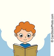 chłopieć czytanie, książka