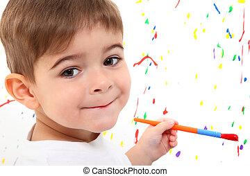 chłopieć dziecko, malarstwo