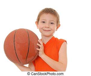 chłopiec, 3, koszykówka