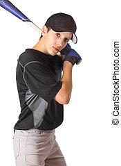 chłopiec, batting