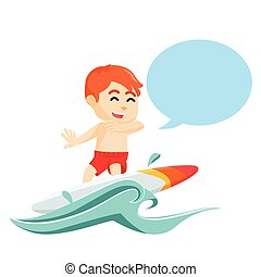 chłopiec, callout, surfing