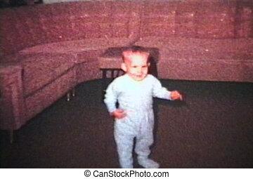 chłopiec, mały, usłysze, (1963), chód