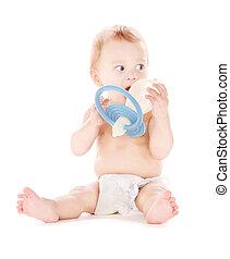 chłopiec niemowlęcia, cielna, pacyfikator