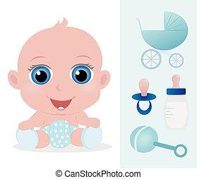 chłopiec niemowlęcia, godny podziwu