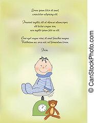 chłopiec niemowlęcia, przelotny deszcz, zawiadomienie