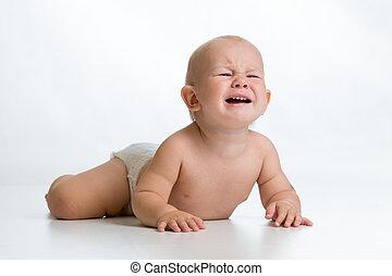 chłopiec niemowlęcia, przewrócić
