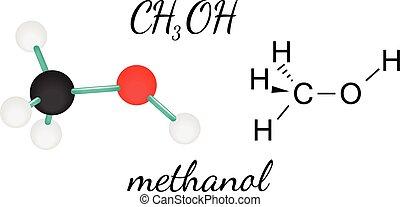 CH3OH methanol molecule - CH3OH methanol 3d molecule...