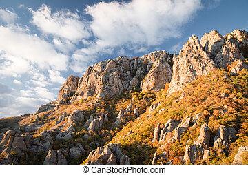 chaîne de montagnes, demerdzhi