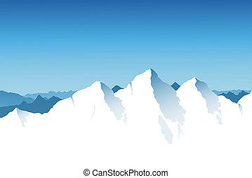 chaîne de montagnes, fond