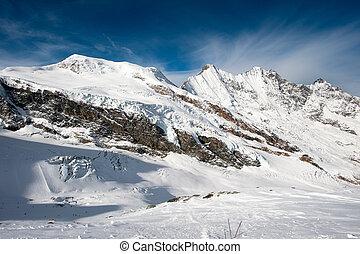 chaîne de montagnes, honoraires, saas