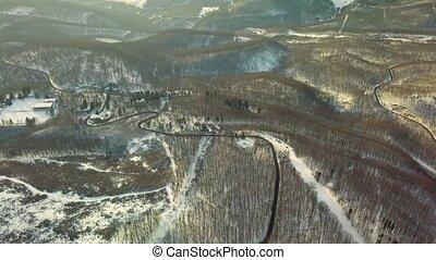 chaîne de montagnes, neigeux