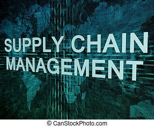 chaîne, gestion, fourniture