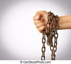 chaîne, main