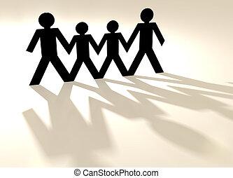 chaîne papier, famille