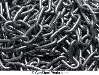 chaîne, sommet, métal, fond, fort, vue
