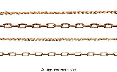 chaîne, strenght, esclavage, corde, connexion, lien