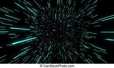 chaîne, temps, seamless, trou ver, science-fiction, boucle, par, devant, directement, ceci, espace