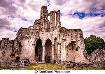 chaalis, 台なし, 修道院, フランス, chaalis
