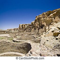 Chaco Canyon Ruins - Ancient Ruins at Chaco Canyon, New...