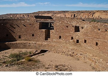 Chaco Culture National Historical Park is a United States National Historical Park and it is a portion of a UNESCO World Heritage Site hosting the densest and most exceptional concentration of pueblos in the American Southwest.