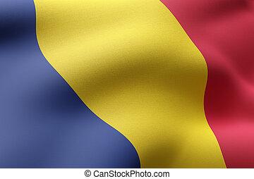 Chad 3d flag