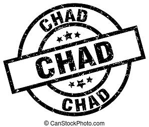 Chad black round grunge stamp