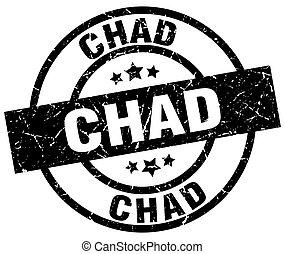 Chad black round grunge stamp