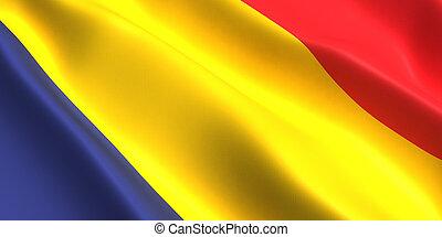 Chad flag 3d