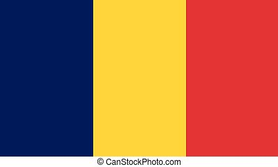 chad Flag for Independence Day and infographic Vector illustration.