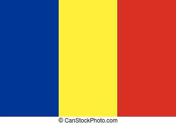 Chad flag vector illustration
