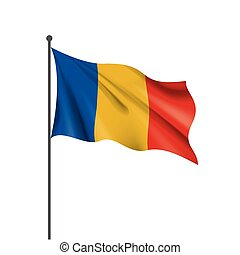 Chad flag, vector illustration on a white background