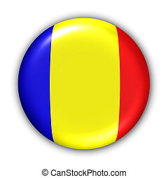 Chad Flag - World Flag Button Series - Africa - Chad (With ...