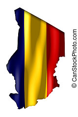 Chad - map and flag illustration.