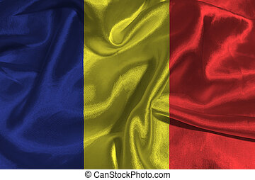 Chad national flag 3D illustration symbol.