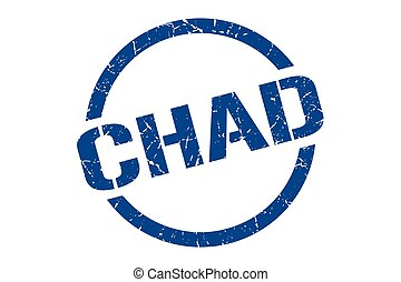 Chad stamp. Chad grunge round isolated sign