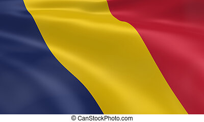 Chadian flag in the wind