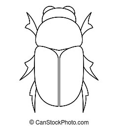 Chafer beetle icon, outline style - Chafer beetle icon....