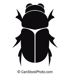 Chafer beetle icon, simple style - Chafer beetle icon....