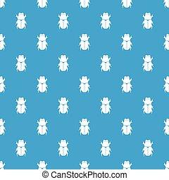Chafer beetle pattern seamless blue - Chafer beetle pattern...