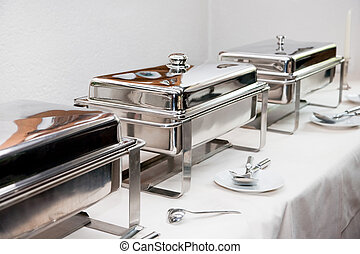 chafing dish - Chafing Dish made of stainless steel at...