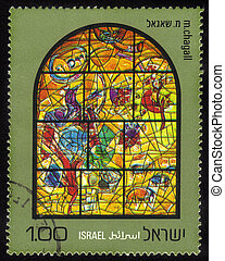 Chagall Windows - 12 Tribes of Israel  .Joseph