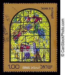 Chagall Windows - 12 Tribes of Israel , Levi