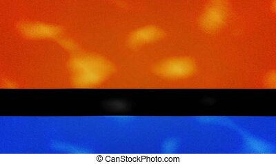 Chagos Islands dense flag fabric wavers, perfect loop for background
