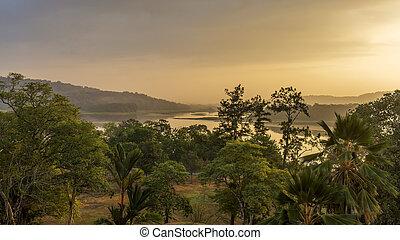Chagres River in Panama at Dawn