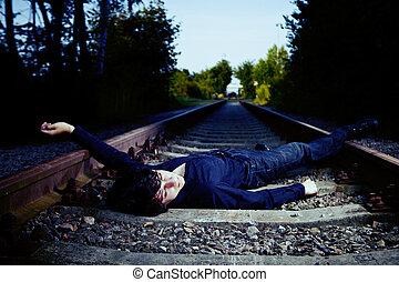 chagrin, sur, ferroviaire