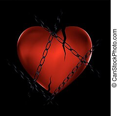 chain and broken heart