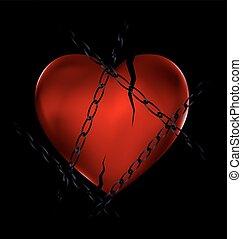 chain and broken heart