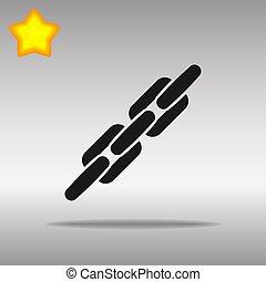 Chain black Icon button logo symbol concept high quality