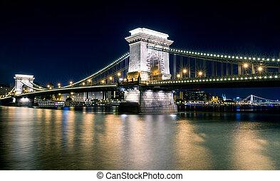 Chain brdige in Budapest, Hungary