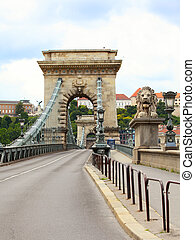 Chain Bridge in Budapest , Hungary